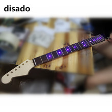 disado 21 22 24 Frets maple Electric Guitar Neck rosewood fretboard inlay LED lights guitar parts accessories