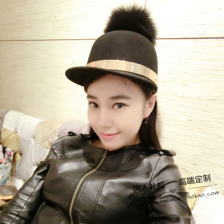 Han edition large bulb baseball cap riding the removable unloading cloth cap hats for men and women the metal ring<br>