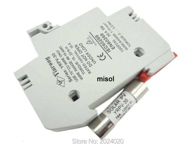 10 unit s of PV solar fuse 10A 1000VDC fusible 10x38 gPV, with holder<br><br>Aliexpress