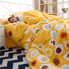 Geometric designer bedding set queen king twin full size yellow duvet cover 100% cotton bedspread soft pillowcases for children