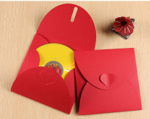 13*13cm Red wedding cd case, cd cover box , dvd box case , single cd case(China)