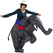 Ride An Elephant Safari Halloween Party Cosplay Inflatable Adult Costume Standard