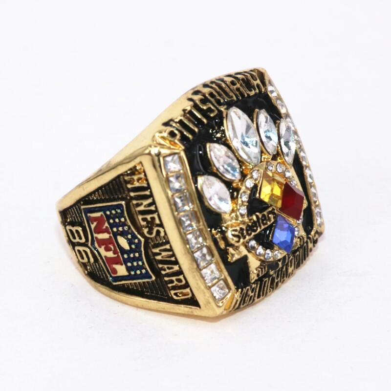USA Size 8 to 15! Factory price 2005 Pittsburgh Steelers Super Bowl 40 world championship ring replica HINES WARD drop shipping(China (Mainland))