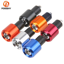 "POSSBAY 7/8"" Grips CNC Universal Motorcycle Handlebar Grip Ends Weights Anti Vibration Silder Plug Motocross Bike Accessories(China)"