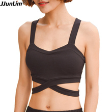 High Impact Womens Fitness Bras Push Up Sports Bra Tank Top Gym Running Padded Yoga Bras Female Athletic Vest Sportswear Bras(China)