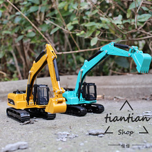 1:60 engineering truck series long arm excavator car model metal materials children's toys decorative ornaments(China)