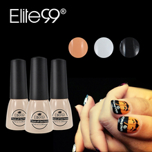 Elite99 3pcs/set White Black Orange Color Gel Nail Polish 7ml Gel UV Polish Top Base Need Soak Off LED Gel Lacquer for Halloween