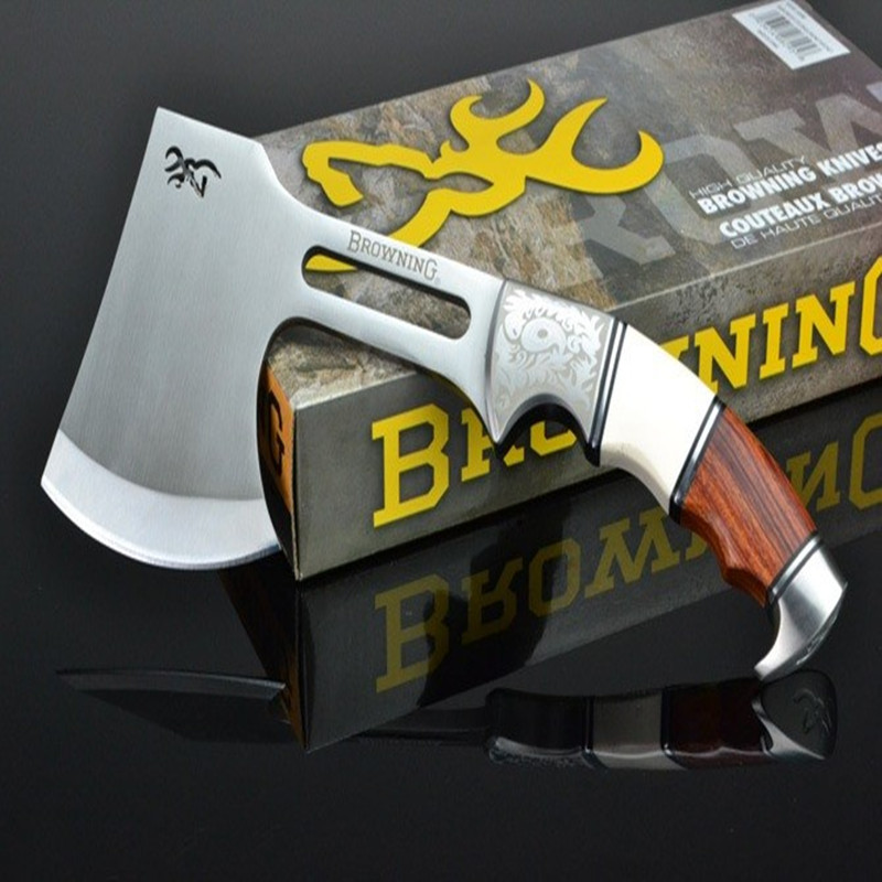 Browning Outdoor Survival Camping 440 Stainless Steel AXE Hunting Camping Fire Axe Hacha Tool Mountain-cutting Hatchet<br><br>Aliexpress