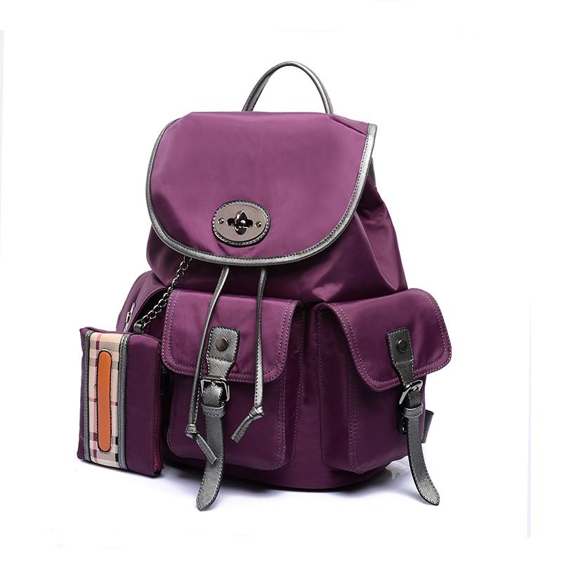 2018 Hot Sales Vintage nylon Women Backpack Mujer Mochila Feminina Campus Girls School Bag Sac a Dos Brand fashion Travel Bag<br>