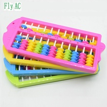 11 Rods Abacus Soroban Beads Column Kid School Learning Aid Tool Math Chinese Traditional abacus Educational toys for children(China)