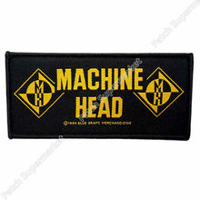 Machine Head Band Logo Merchandise Music Band Woven IRON On Patch T shirt Transfer APPLIQUE Heavy Metal Rock Punk Badge