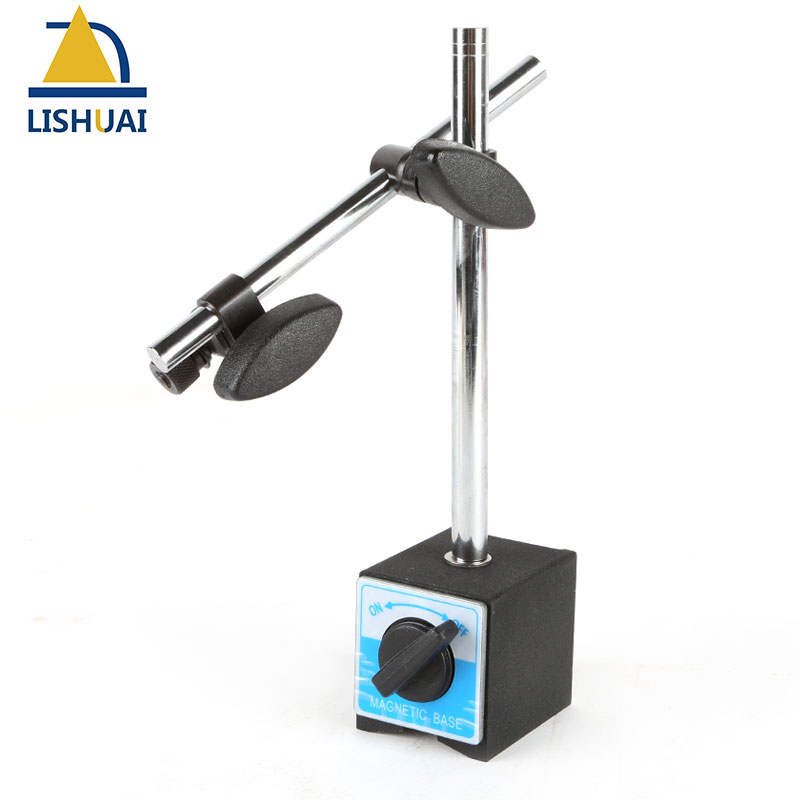 LISHUAI High Quality Magnetic Base Holder With Double Adjustable Pole For Dial Indicator Test Gauge YMB-B<br>