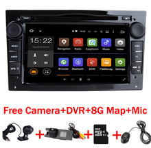 "7""HD 1024X600 Touch Screen Android 7.1 Car DVD Player for Opel Astra Vectra Antara Zafira Wifi 4G BT Radio USB SD Free 8GMap+DVR(China)"