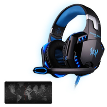 Kotion EACH G2000 Computer Stereo Gaming Headphones Best casque Game Headset with world map mouse Keyboard Pad for PC Gamer