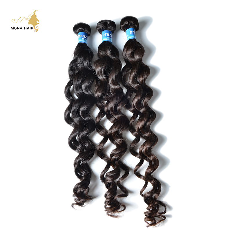 Mona Hair Products 8A Virgin Hair Brazilian Natural Wave 1pc/lot 100% Unprocessed No Tangle No Shed Human Hair Bundle<br><br>Aliexpress