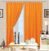1PC  solid microfiber fabric curtain with 7 loops free shipping