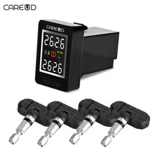 CAREUD U912 TPMS Car Tire Pressure Wireless Monitoring System+4 Sensors and LCD Display Embedded Monitor for Toyota