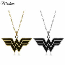 MQCHUN Marvel Super Hero Wonder Woman Statement Chain Necklace Vintage Silver Bronze Color Pendant Jewelry 2017 New Arrivals