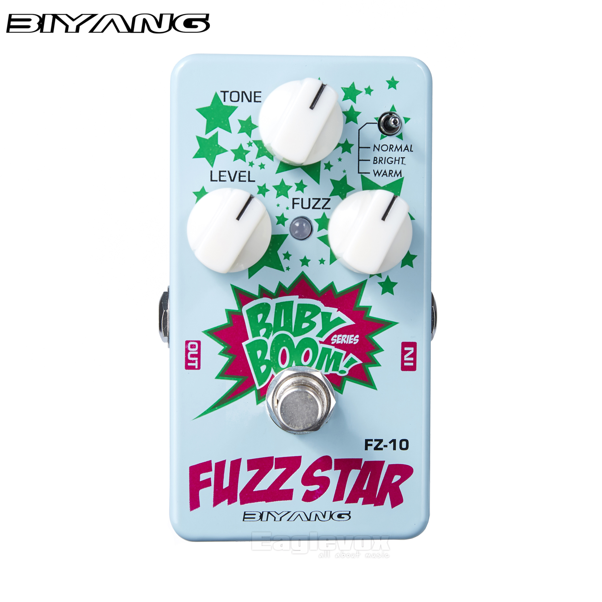 Biyang Fuzz Star Guitar Effect Pedal Effects Stompbox for Electric Guitar smooth sounding fuzz distortion Baby Boom FZ-10<br>