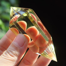 "3.28"" 30-6-24 Sided Vogel Style Natural Citrine Quartz Crystal DT Point Healing 92g(China)"