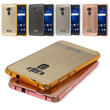 Anti-Knock Metal Aluminum Bumper Fundas For Asus Zenfone 3 ZE520KL Case Brushed PC Back Cover For Zenfone 3 ZE552KL Case Coque(China)