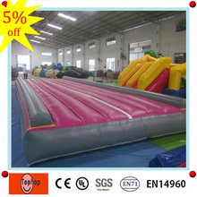 factory direct customized cheap foldable pvc tarpaulin gym equipment inflatable air tumble track for sale(China)