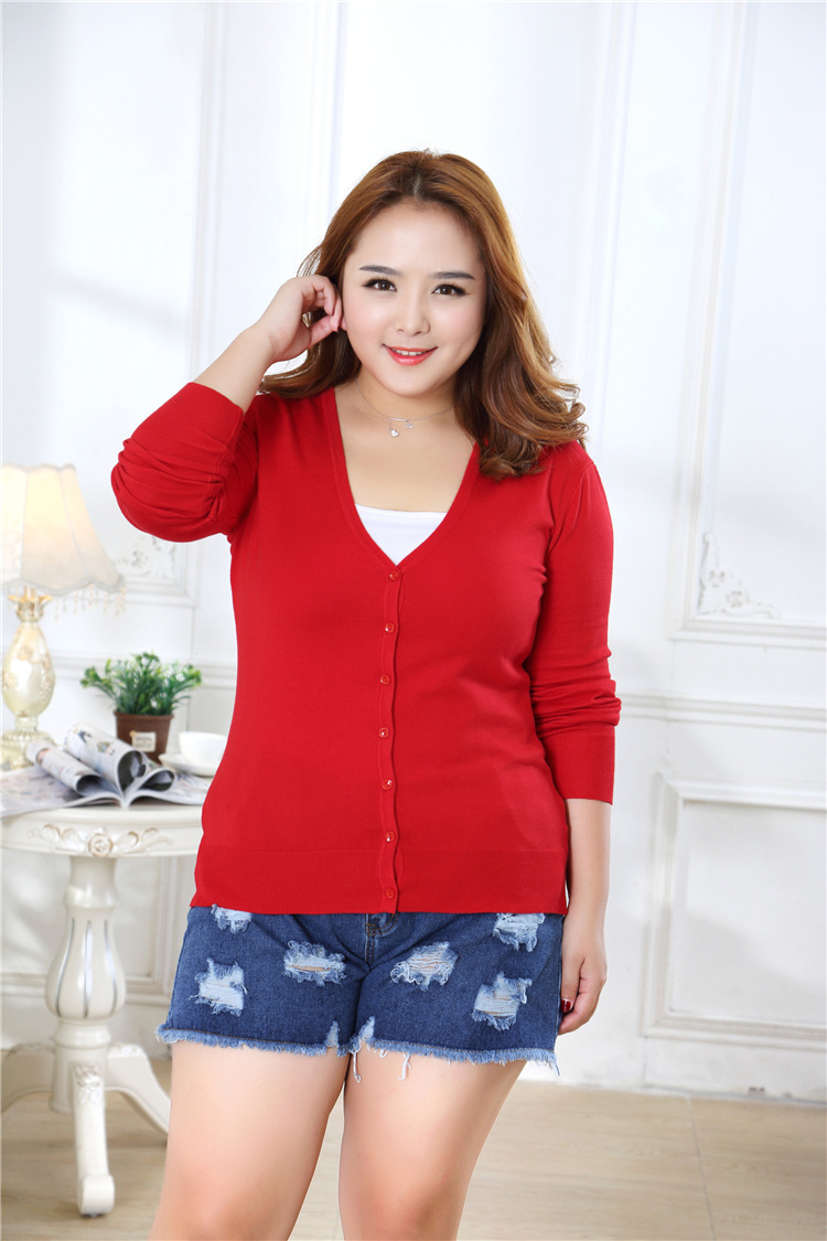 new Sweater Women Cardigan Knitted Sweater Coat Crochet Female Casual V-Neck Woman Cardigans Tops plus size 100KG 13
