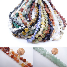 Wholesale Natural Quartz Crystal Gem Stone onyx mix mulit color Cross Beads For Halloween Necklace Bracelet Jewelry Accessories