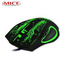 New Professional Gaming Mouse LED Optical USB 6D Wired Computer Mouse Cable Mice for Laptop PC Desktop For Pro Gamer CSGO LOL(China)