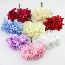 6pieces 5cm Artificial orchid Flowers Bouquet,silk lily flower For Wedding Wreath Scrapbooking Decoration(China)