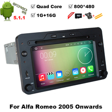 Quad Core Android 5.1.1 Car DVD GPS for Alfa Romeo 159 Sportwagon Spider Brera with BT Wifi Radio 2005 onwards support DAB DTV