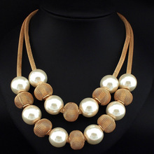 Danfosi 3 Colors Fashion Imitation Pearl Necklace Women Collar Choker Beads Statement Necklaces & Pendants Jewelry Accessories
