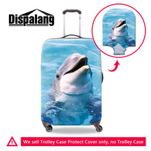 3D Dolphin Print Luggage Cover For Girls Travel Accessories Men's Cool Suitcase Protective Cover For 18-30 Inch Trolley Cases