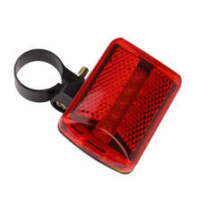 Hot Bike Bicycle 5 LED Rear Light Tail Light Bike Bicycle Red Back Light Safety Warning Flashing Lights Taillight Rearlight BHU2