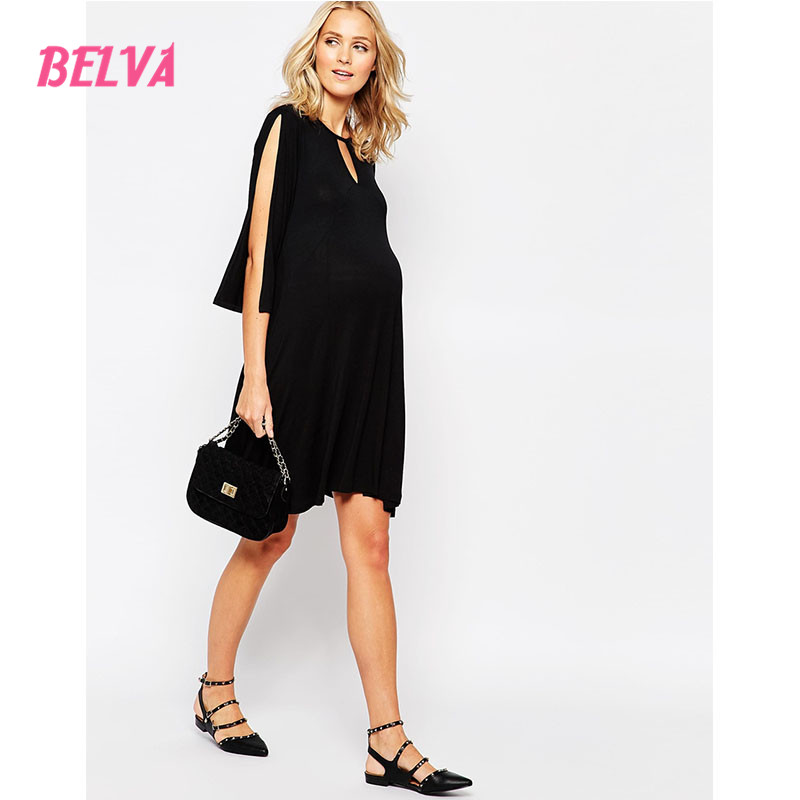Belva Bamboo Fiber fashionable maternity casual dress for pregnant women maternity gown photography pregnancy dresses DA730468<br>