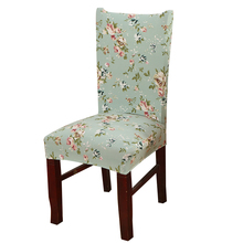Mecerock Floral Printing Chair Covers Spandex White Elastic Chair Covers Colorful Printing Covers for Chairs for Wedding Dinner(China)