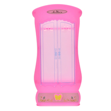 1Pc Pink Wardrobe Closet Doll Princess Bedroom Furniture Closet Wardrobe For Barbies