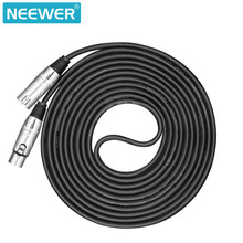 Neewer Balanced 3-pin XLR Cable Mice Cable 15 feet/4.5mfor Sound Clarity+Ultra Low Noise on Live Gigs, Recording Applications(China)