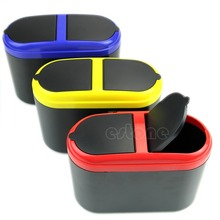 Mini Dustbin Box Trash Rubbish Can Garbage Dust Case Holder Bin Hook For Car SUV(China)