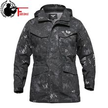 M65 Military Jacket Men Autumn Winter Waterpoof Tactical Overcoat Army Style Hood Pocket Male Windbreaker Coat Outwear Clothing(China)