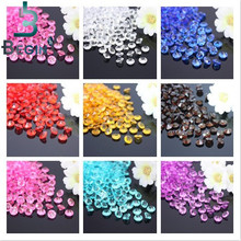 2000PCS 4.5mm Wedding Decoration Crafts Diamond Confetti Table Scatters Clear Crystals Centerpiece Events Party Festive Supplies