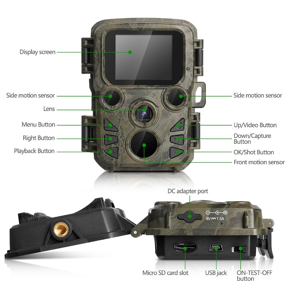 Wildlife Trail Photo Trap Hunting Camera 12MP 1080P 940NM Waterproof Video Recorder Cameras for Security Farm Fast (4)
