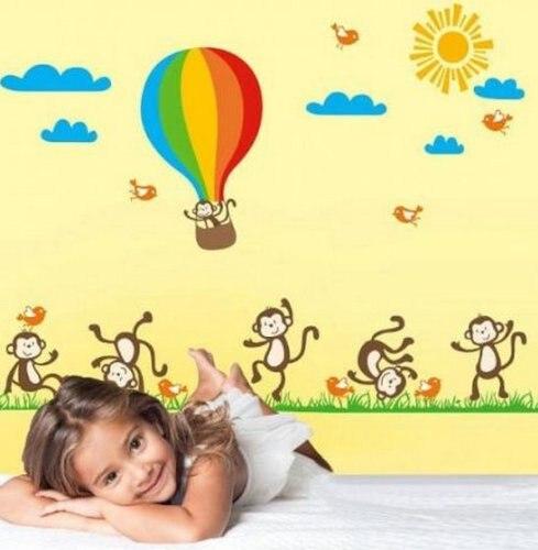 Online Get Cheap Wall Decor Hot Air Balloon Kids Stickers ...