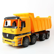 EFHH 1:22 Plastic Dump Truck Vehicle Model Diecast Toy Car Big Size Yellow/Green Children Puzzle Toys Drop Shipping 2121136(China)
