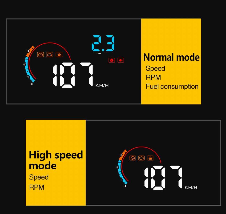 HTB1fEcobYZnBKNjSZFKq6AGOVXaX - Car Head Up Display Projector Shows Speed Warning Fuel Consumption