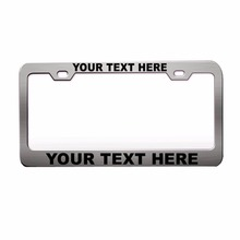 Custom Car License plate frame license holder Personalized License Plate Tag Frame Engraved Steel Metal Plain Text Chrome 8z1143