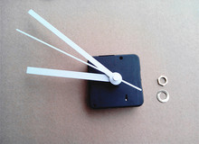 100PCS Sweep 13mm Shaft Wall Clock Mechanism with White Hands Clockworks for DIY Clock Parts(China)