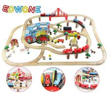 Thomas and Friends --142PCS Big Set Thomas Electric Train Track Set Wooden Railway Track EDWONE fit Thomas Xmas Gifts For Kids