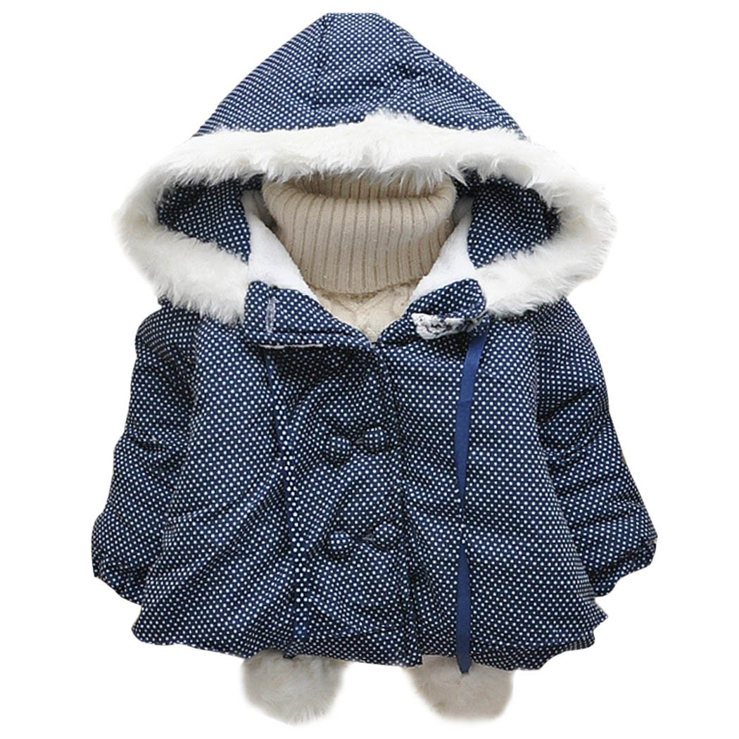 2017 Sale Winter Jacket Cute New Rabbit Pattern Girls Sleeve Thickening Warm Hooded Jacket Coat Childrens Party Birthday Gift Одежда и ак�е��уары<br><br><br>Aliexpress