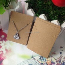 necklaces card kraft cardboard accept custom order Customize your own logo need add extra cost MOQ:1000pcs jewelry sets(China)